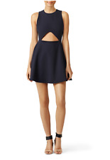NWT Elizabeth and James Navy Blue Abella Cut Out Fit and Flare Dress 0 XS $365