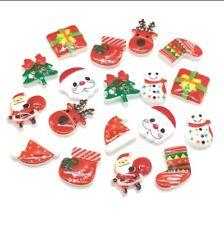 20 Christmas Embellishments Flatback Beads Crafts Cabochon Jewelry Scrapbooking