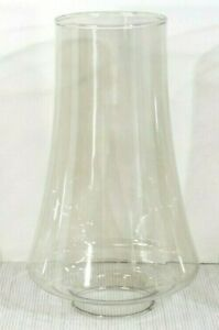 """Replacement Chimney lamp shade 2"""" fitter  lightly smoked glass, chandelier NOS"""
