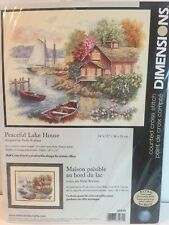New listing Dimensions Cross Stitch Kit Peaceful Lake House