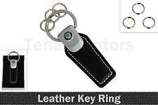 Schwarz Leder Schlüsselanhänger Schlüsselband für SKODA Fabia Citigo Yeti+Box #