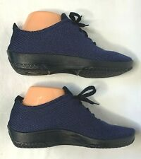 Arcopedico womens size 38 shoes navy blue nylon knit LS lace up comfort casual