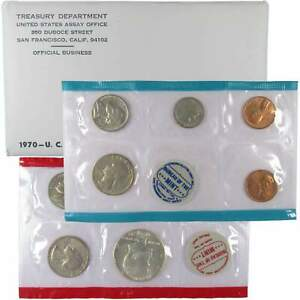 1970 U.S. Mint Set Uncirculated Original Government Packaging OGP Collectible