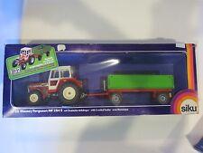 siku 3750 Massey Ferguson MF284S Farm Tractor & 2 Axle Trailer 1:32 NIB Boxed