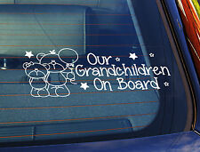 Static Cling Window Car Sign/Decal Our Grandchildren 2 Teds 100mm x 250mm 17