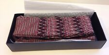 New Missoni Margherita Zig Zag Sweater Knit Tights Black Pink Brown Medium $175