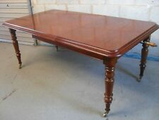 Mahogany Victorian style wind out extending dining table