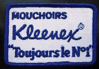 """KLEENEX EMBROIDERED SEW ON PATCH KIMBERLY CLARK TISSUE  3"""" x 2"""""""