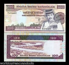 BRUNEI 100 RINGGIT P17 1990 SULTAN UNC RARE CURRENCY MONEY BILL ASIA BANK NOTE
