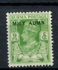 Burma 1945 SG#38, 9p KGVI Optd Mily Admn MNH #C83