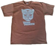 Bravado Official Merchandise TRANSFORMERS AUTOBOT Vintage Print T-Shirt L Braun