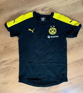 Puma BVB Borussia Dortmund Trainingstrikot Trainingsshirt gelb schwarz Gr. S