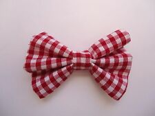 RED GINGHAM DOG BOW TIE / COLLAR ACCESSORY- DOG/ PUPPY/ GIFT FOR DOG LOVER
