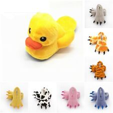 Cute Cotton Padded Indoor Plush Cartoon Shoes Big Yellow Duck Soft  Slippers