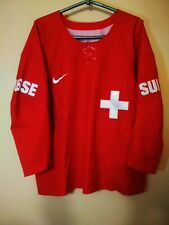 Switzerland Suisse National Team Hockey Olympic Sochi 2014 Nike jersey trikot