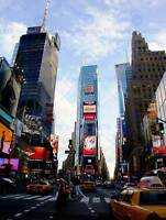 PHOTO CITYSCAPE TIMES SQUARE NEW YORK USA BILLBOARD TAXI CAB POSTER BMP11698