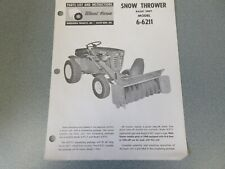 8 Old Wheel Horse Snow Blower Manuals (all different)