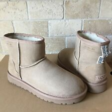 UGG Classic Mini 40:40:40 Anniversary Sand Suede Boots Size 11 Womens fits Men 9
