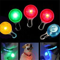 Pet Dog Cat Puppy LED Light Up Flashing Collar Safety Night Light Keyring Charm