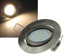 LED Einbaustrahler Einbauleuchte Edelstahl gebürstet/weiß warm/kalt-weiß 230V 4W