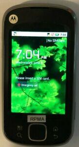 NEW Motorola Cliq XT Black MB501 (Consumer Cellular) Cell Fast Ship TEST ITEM