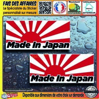 2 Sticker autocollant made in japan DRIFT  sponsor tuning decal flag japon jdm