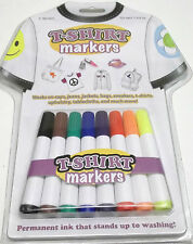 T-Shirt Markers Art Kit Set of 8 Permanent Ink Wash Proof Works On All Fabrics