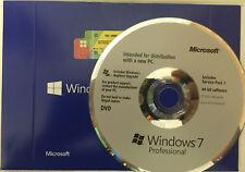 Microsoft Windows 7 Professional 64 Bit SP1 Full Version & Upgrade w/laptop