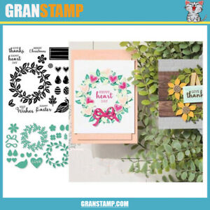 ARRANGE A WREATH Metal Cutting Dies and Stamps DIY Scrapbooking Card Stencil Pap