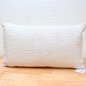 "Hotel Collection 14"" x 24"" Decorative Pillow Locked Geo White J0Z137"