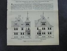 1909 Baugewerkszeitung 65 / Heckershausen Ahnatal Förster Glanz