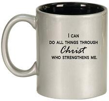 11oz Ceramic Coffee Tea Mug Glass Cup I Can Do All Things Through Christ