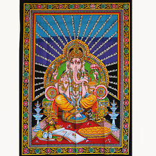 Wandbehang Bild Ganesh Indien Bollywood Thangka goa hippie Wandbild   6