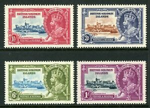 British 1935 KGV Silver Jubilee Solomon Is Scott #60-63  Mint Non Hinged Y221