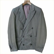 3.1 Phillip Lim 15SS peaked lapel double-breasted jacket men's gray 36