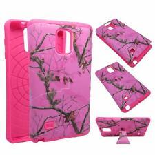 For Samsung Galaxy Note 4 Kickstand Hybrid Pink Camo Moze Hard Soft Cover Case