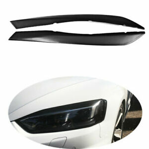 Fits AUDI A5 S5 RS5 17-18 Front Headlight Cover Eyebrow Eyelid Matt Black 2PCS