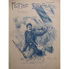 Paraíso H. Flottez Banderas Dedicatoria Piano 1915 Partitura Sheet Music Score