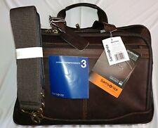 Samsonite Durham Columbian Leather 2 Gusset Briefcase Laptop Messenger Bag NEW