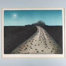Elizabeth? Holleten Signed Colour Aquatint Print Landscape II Dated 1976