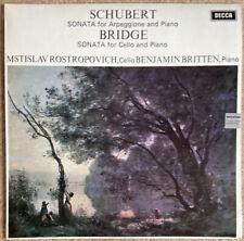 Decca SXL 6426 Rostropovich Britten Schubert Sonata Bridge Sonata