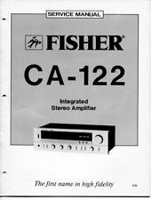 VINTAGE FISHER SERVICE INTEGRATED STEREO AMPLIFIER MODEL CA-122