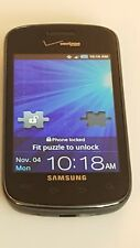 Samsung i110 Illusion Pre Paid Verizon Black Touchscreen Cell Phone Android