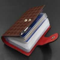 Leather Clear Card Holder 26 Card Slots Wallet Purse Card Pouch Card Holder