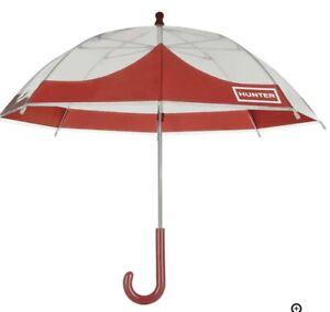 Hunter Original Kid's  Moustache Bubble Umbrella in Orange