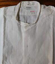 Rialbo starched tunic dress shirt Pin tuck front Size 15.25 vintage early 1900s