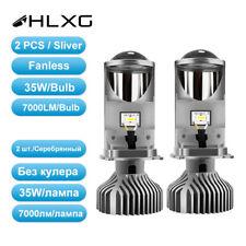 2x H4 9003 Bi-LED Mini Projector Lens 70W 14000LM Headlight Bulbs Kit Hi/Lo Beam