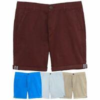 MATALAN Mens Chino Shorts Combat Work Casual Roll Up Knee Length Summer Pants