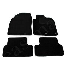 Nissan Qashqai Mk1 Deluxe Tailored Carpet Car Mats 2007-2014 Black 4pc Floor Mat