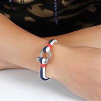 Cool Unisex Bracelet Men Nylon Belt Boat Anchor Wristband Bangle Chain Jewelry